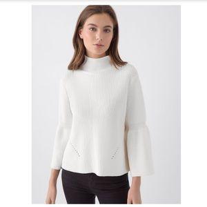 525 America Sweaters - 525 America SHAKER MOCK-NECK TULIP SLEEVE